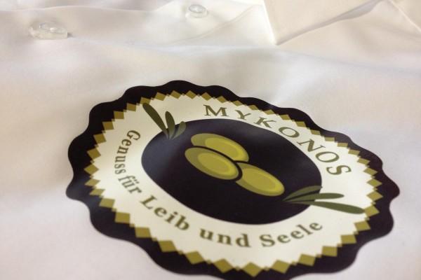 Digitaldruck auf Hemden für Gastronomie