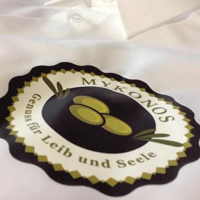 Transferdruck auf Hemden Mykonos
