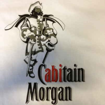 Siebdruck Cabitain Morgan auf T-shirts